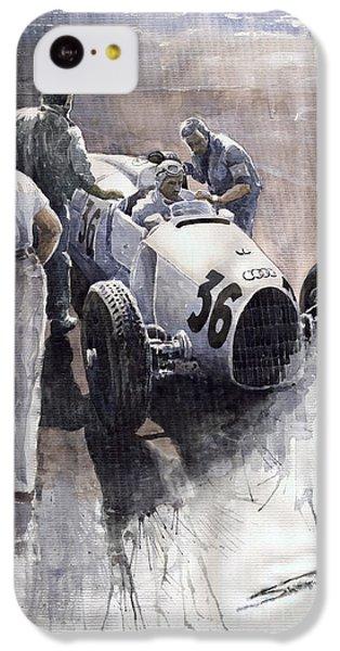 Sports iPhone 5c Case - Auto Union B Type 1935 Italian Gp Monza B Rosermeyer by Yuriy Shevchuk