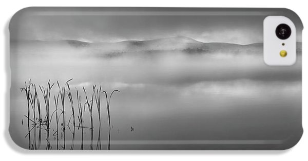 IPhone 5c Case featuring the photograph Autumn Fog Black And White by Bill Wakeley