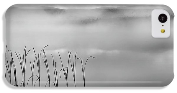 IPhone 5c Case featuring the photograph Autumn Fog Black And White Square by Bill Wakeley
