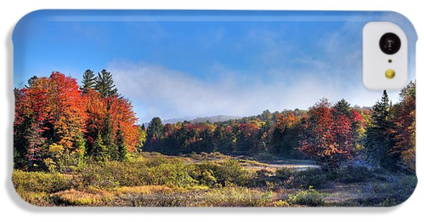 IPhone 5c Case featuring the photograph Autumn Panorama At The Green Bridge by David Patterson