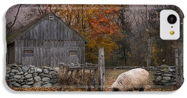 Sheep iPhone 5c Case - Autumn Sweater by Robin-Lee Vieira