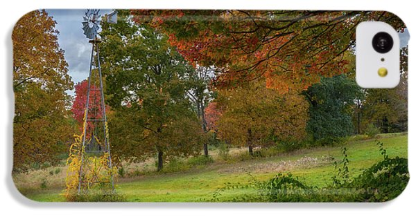 IPhone 5c Case featuring the photograph Autumn Windmill by Bill Wakeley