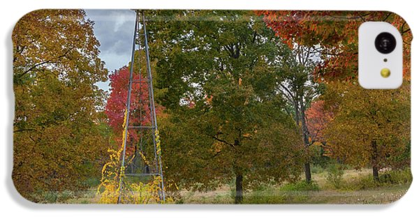 IPhone 5c Case featuring the photograph Autumn Windmill Square by Bill Wakeley