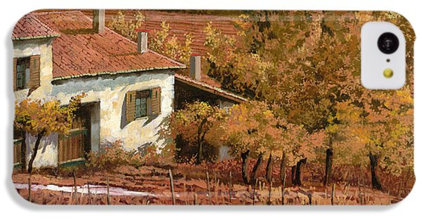 Rural Scenes iPhone 5c Case - Autunno Rosso by Guido Borelli