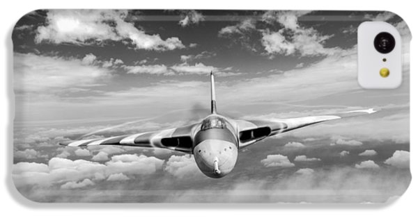 IPhone 5c Case featuring the digital art Avro Vulcan Head On Above Clouds by Gary Eason