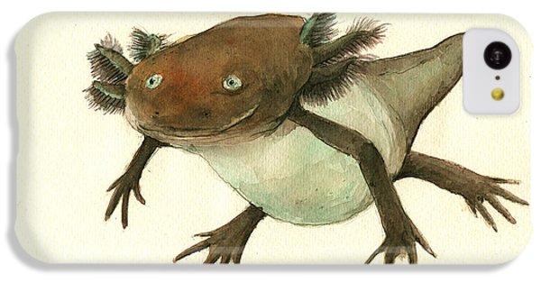 Salamanders iPhone 5c Case - Axolotl by Juan Bosco
