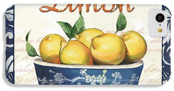 Fruit Bowl iPhone 5c Case - Azure Lemon 3 by Debbie DeWitt