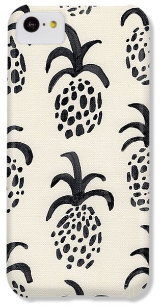 B And W Pineapple Print IPhone 5c Case by Anne Seay