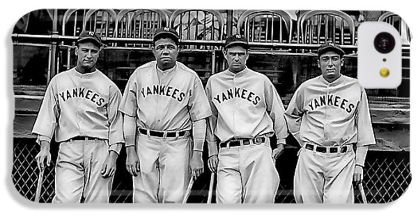 Babe Ruth Lou Gehrig And Joe Dimaggio IPhone 5c Case by Marvin Blaine