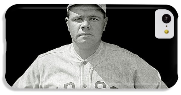 Babe Ruth Red Sox IPhone 5c Case by Jon Neidert