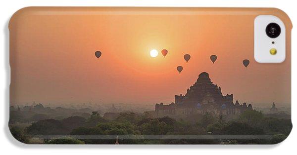 Burmese Python iPhone 5c Case - Bagan Temple by Delphimages Photo Creations
