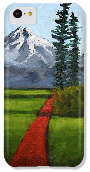 IPhone 5c Case featuring the painting Baker Meadow by Nancy Merkle
