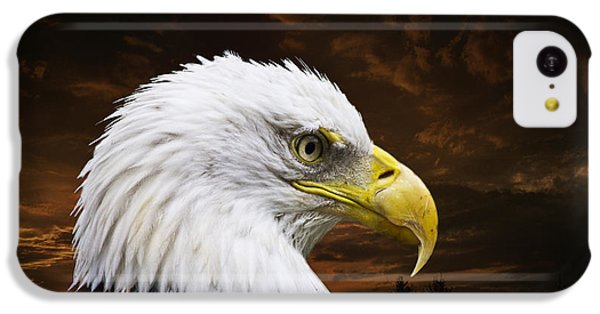 Bald Eagle - Freedom And Hope - Artist Cris Hayes IPhone 5c Case by Cris Hayes