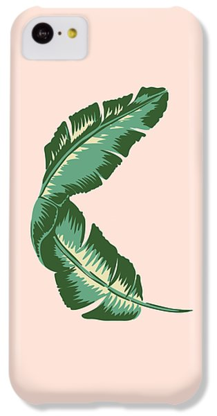 Banana Leaf Square Print IPhone 5c Case by Lauren Amelia Hughes