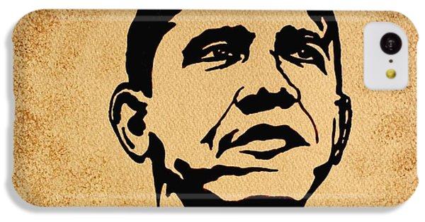 Barack Obama Original Coffee Painting IPhone 5c Case by Georgeta  Blanaru