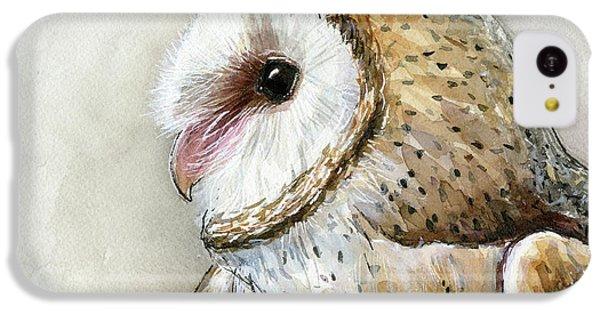 Barn Owl Watercolor IPhone 5c Case