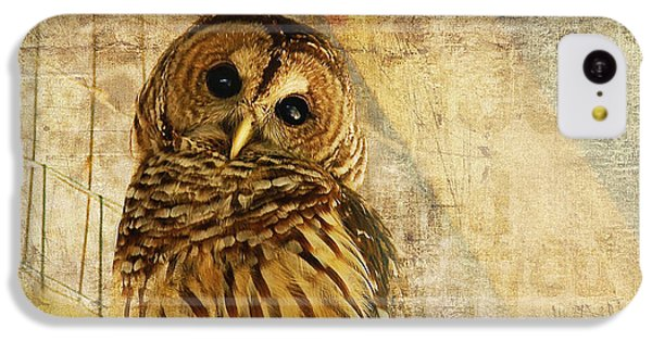 Brown Snake iPhone 5c Case - Barred Owl by Lois Bryan
