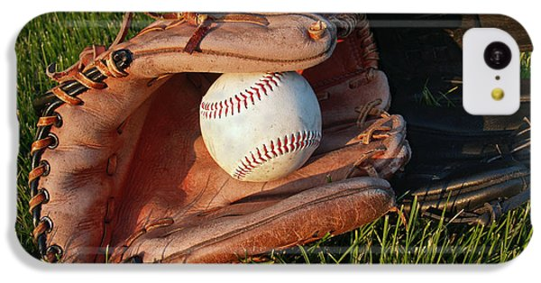 Baseball Gloves After The Game IPhone 5c Case by Anna Lisa Yoder