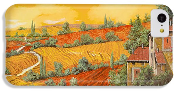 Sunflower iPhone 5c Case - Bassa Toscana by Guido Borelli