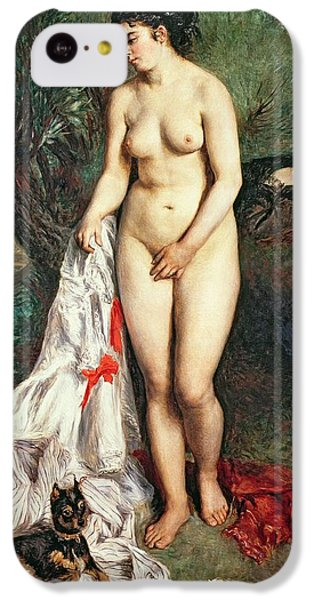 Bather With A Griffon Dog IPhone 5c Case by Pierrre Auguste Renoir