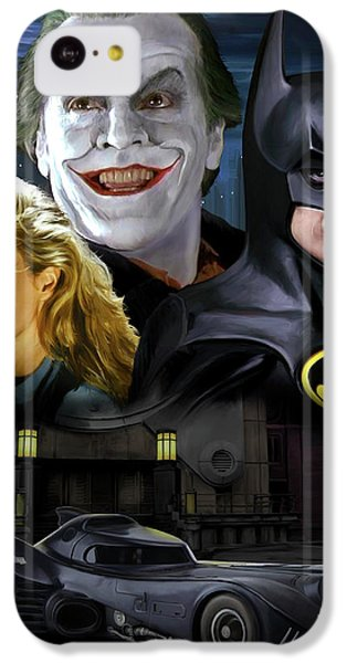 Jack Nicholson iPhone 5c Case - Batman 1989 by Paul Tagliamonte