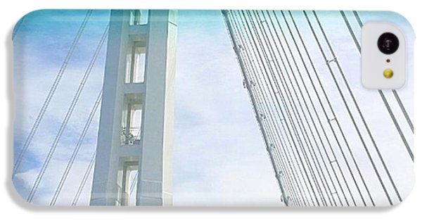 Sky iPhone 5c Case - Bay #bridge Section. Love The Aqua Tint by Shari Warren