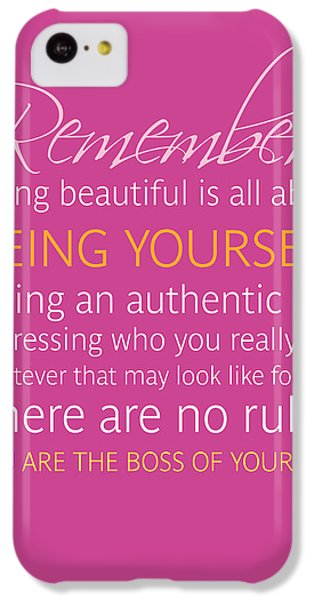 Be Yourself IPhone 5c Case