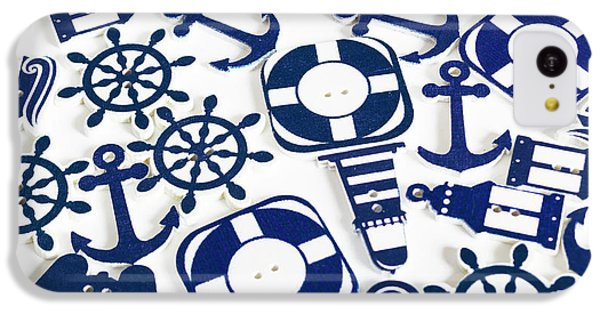 Navigation iPhone 5c Case - Beach Blue Background by Jorgo Photography - Wall Art Gallery