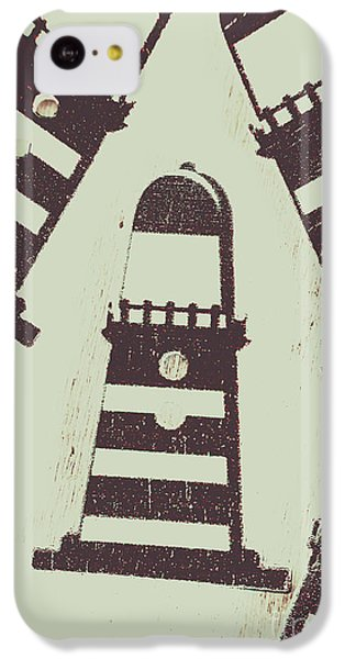 Navigation iPhone 5c Case - Beacon Buttons by Jorgo Photography - Wall Art Gallery