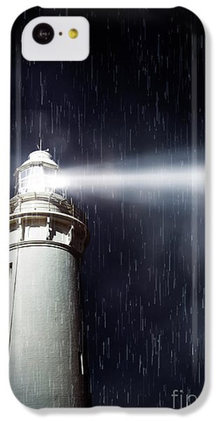 Navigation iPhone 5c Case - Beaming Lighthouse by Jorgo Photography - Wall Art Gallery