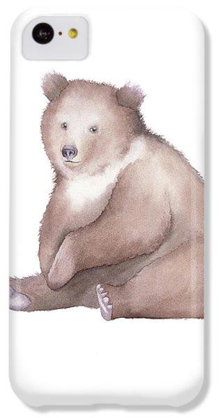 Bear Watercolor IPhone 5c Case by Taylan Apukovska