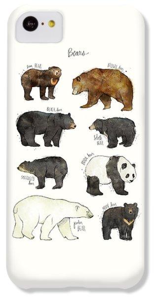Bear iPhone 5c Case - Bears by Amy Hamilton