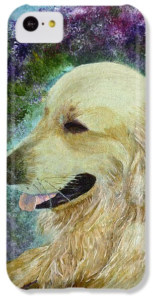 IPhone 5c Case featuring the painting Beautiful Golden by Claire Bull