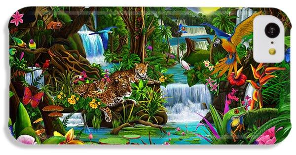 Toucan iPhone 5c Case - Beautiful Rainforest by Gerald Newton