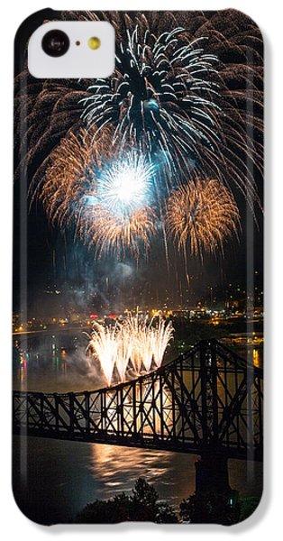 Beaver iPhone 5c Case - Beaver County Fireworks 2 by Emmanuel Panagiotakis