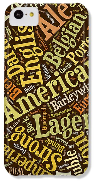 Beer Lover Cell Case IPhone 5c Case by Edward Fielding