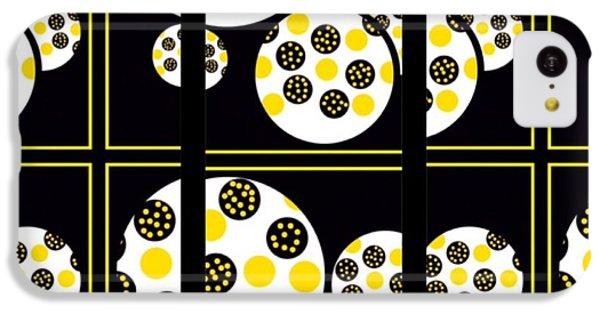 The Art Of Gandy iPhone 5c Case - Bees Traveling Beyond Us In Panes by Joan Ellen Gandy