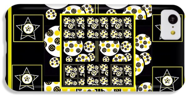 The Art Of Gandy iPhone 5c Case - Bees Traveling Beyond Us Overlapping by Joan Ellen Gandy
