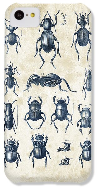Beetles - 1897 - 01 IPhone 5c Case by Aged Pixel