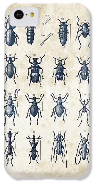 Beetles - 1897 - 03 IPhone 5c Case by Aged Pixel