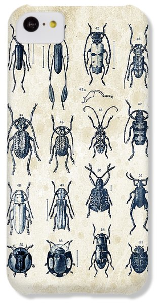 Beetles - 1897 - 04 IPhone 5c Case by Aged Pixel
