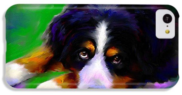 Bernese Mountain Dog Portrait Print IPhone 5c Case