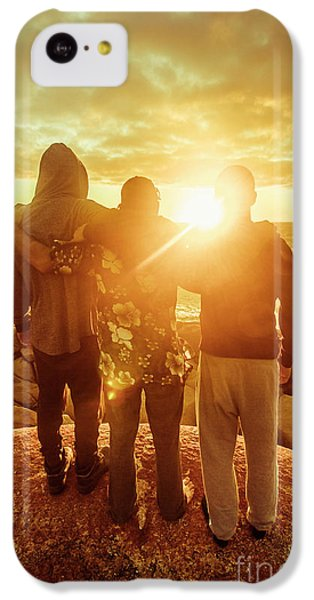 IPhone 5c Case featuring the photograph Best Friends Greeting The Sun by Jorgo Photography - Wall Art Gallery