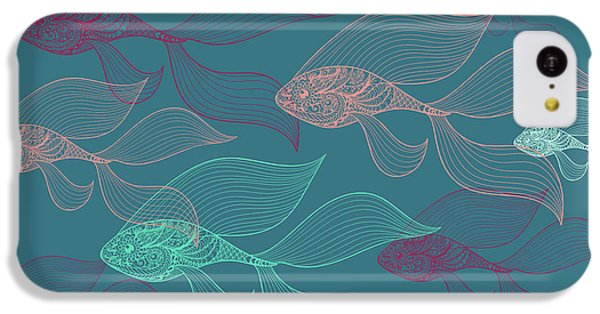 Beta Fish  IPhone 5c Case by Mark Ashkenazi