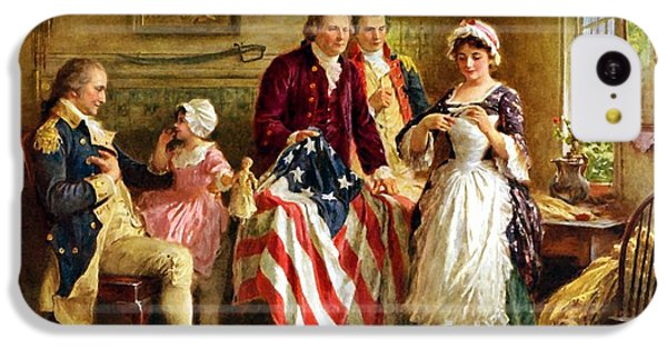 Betsy Ross And General George Washington IPhone 5c Case by War Is Hell Store