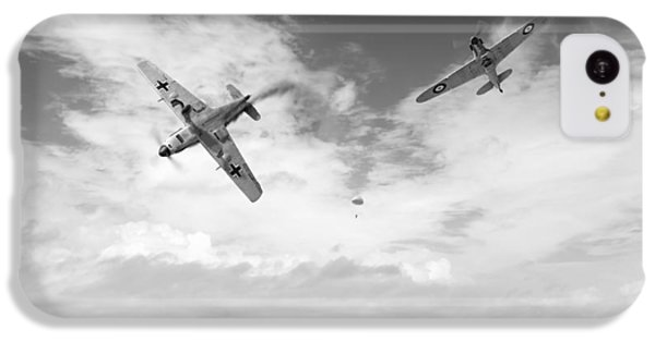 IPhone 5c Case featuring the photograph Bf109 Down In The Channel Bw Version by Gary Eason