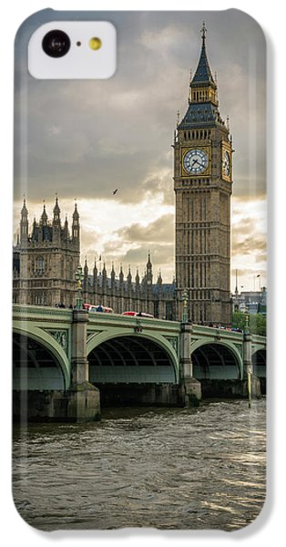 Big Ben iPhone 5c Case - Big Ben At Sunset by James Udall