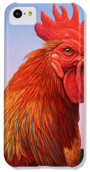 Rooster iPhone 5c Case - Big Red Rooster by James W Johnson