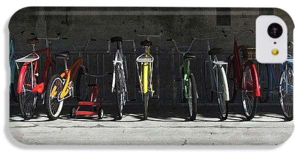 Bicycle iPhone 5c Case - Bike Rack by Cynthia Decker