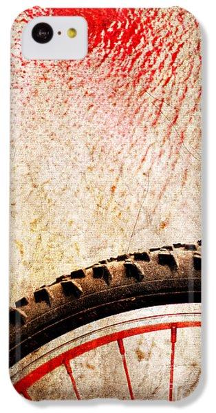 Bike Wheel Red Spray IPhone 5c Case